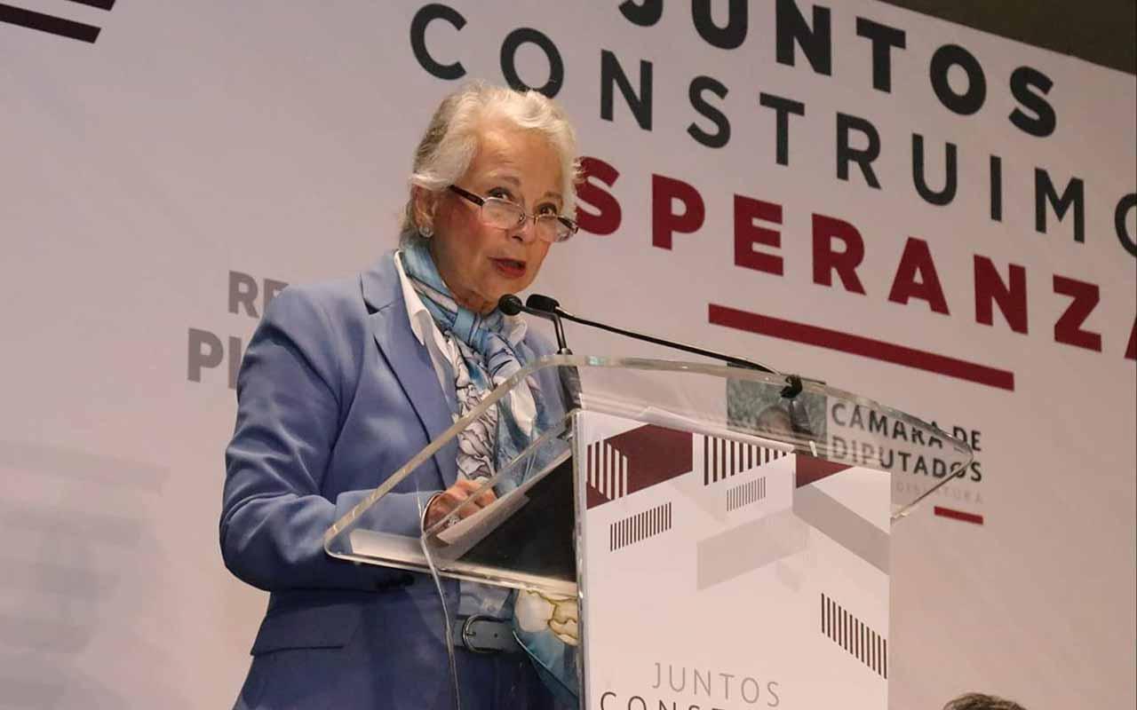 Olga Sánchez Cordero, Morena, Plenaria, Secretaría de Gobernación, Plenaria Morena, AMLO,