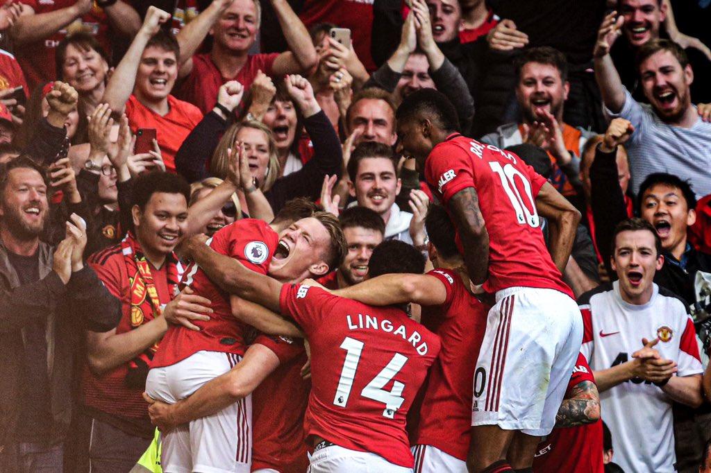 Manchester United le pegó al Chelsea. Foto: Twitter