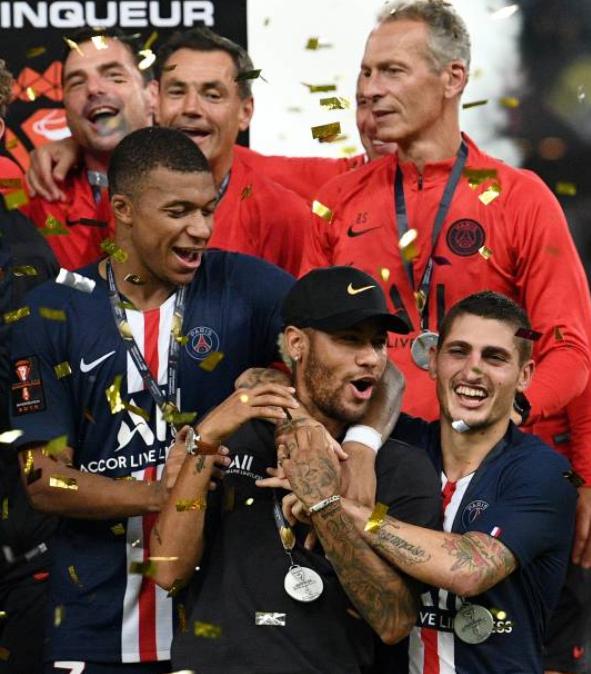 Mbappé humilló a Neymar. Foto: Twitter