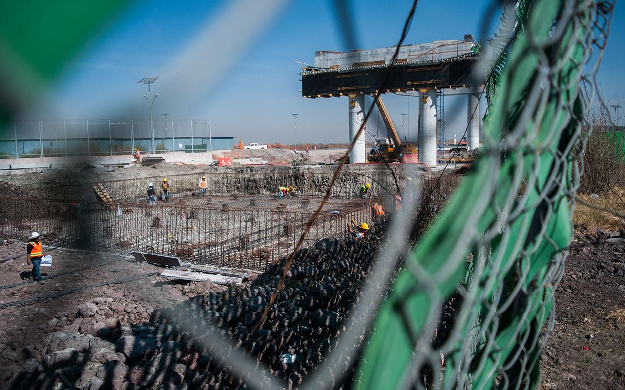 Nuevo Aeropuerto, Grupo Aeroportuario de la Ciudad de México, consorcio Sacyr Epccor, empresa Proc Mina, Construcción de la Losa de Cimentación del Centro Intermodal de Transporte Terrestre,