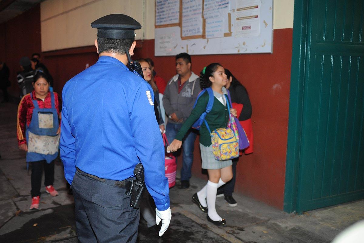CDMX, regreso a clases, Policías