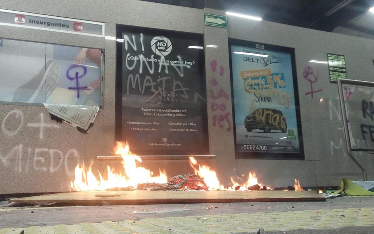 feministas, agresión, Metrobús, Insurgentes,