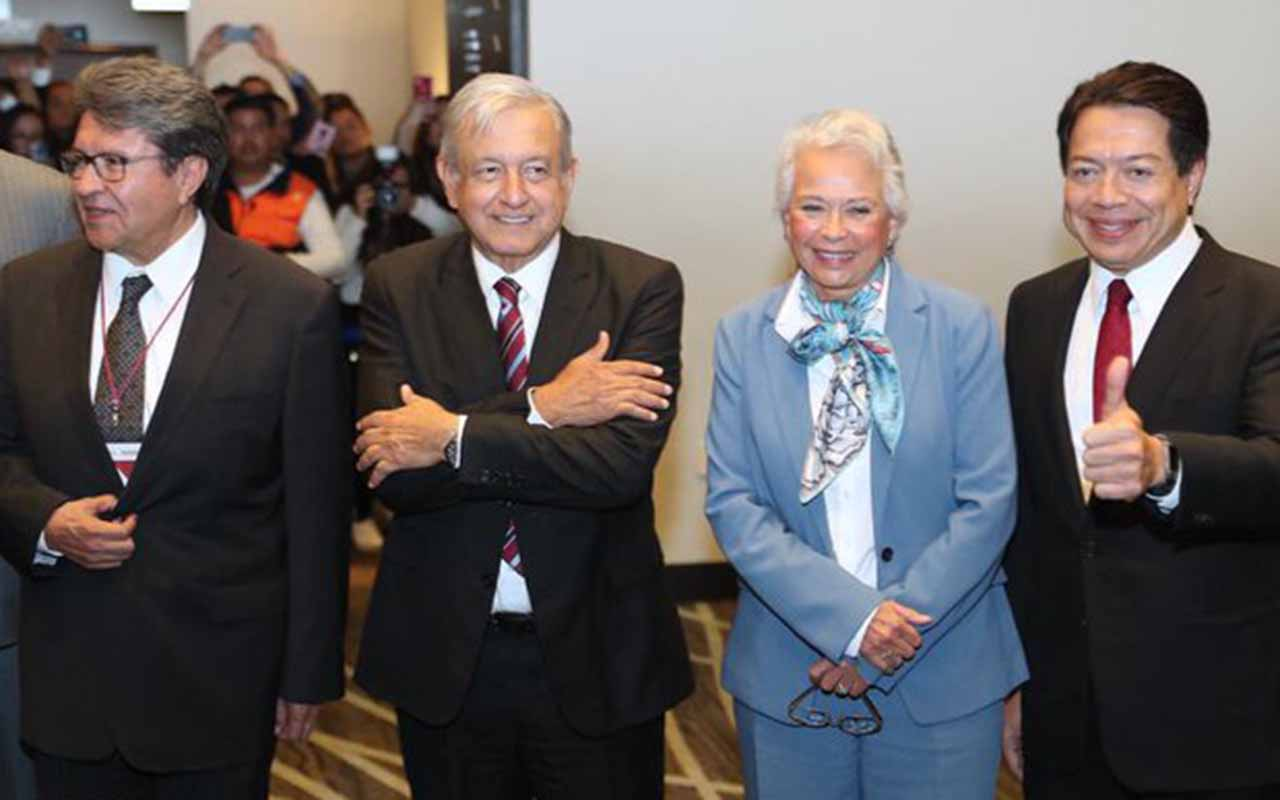 Morena, Plenaria, López Obrador, Ricardo Monreal, Martí Batres,
