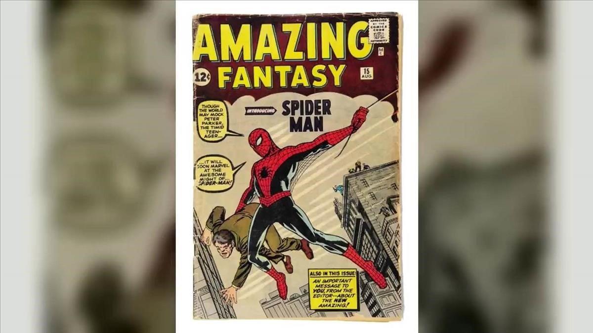 Este es el primer comic de Spider-Man subasta