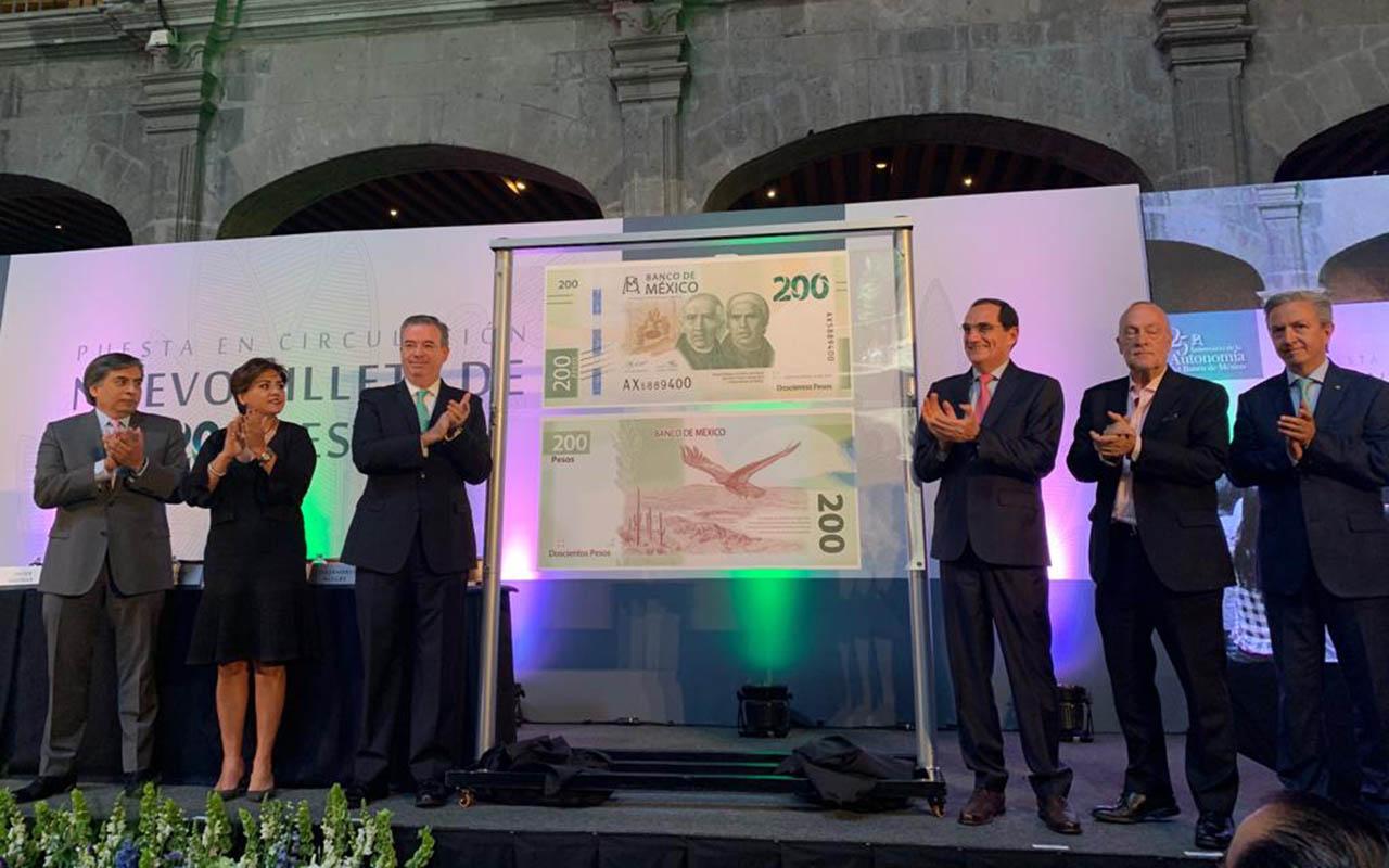 Banco de México, Banxico, billete 200, Miguel Hidalgo, José María Morelos,