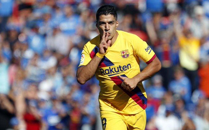 Barcelona le pegó a Getafe. Foto: Twitter