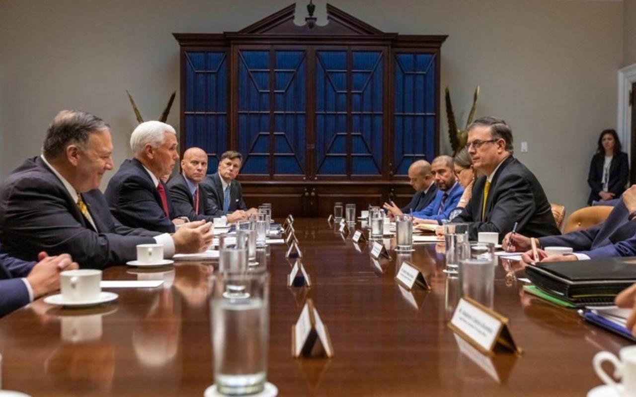 Marcelo Ebrard, Mike Pence, tráfico de armas, migración, Donald Trump, Cancillería,