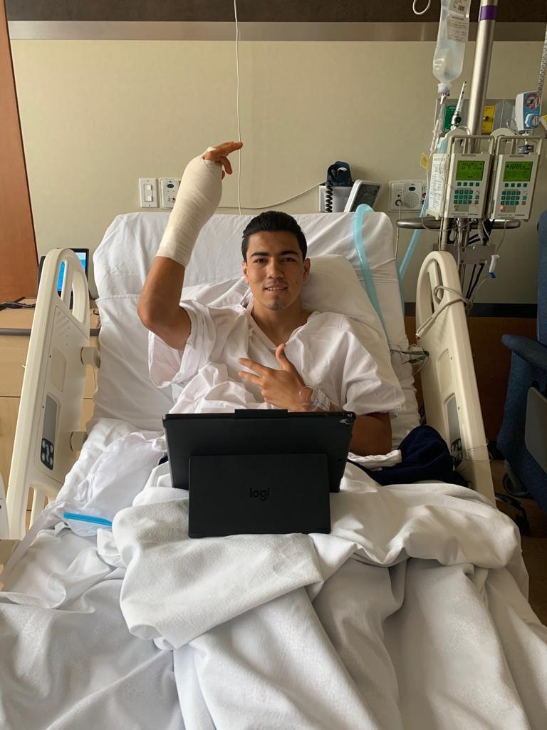 Erick Gutiérrez fue operado con éxito. Foto: Twitter