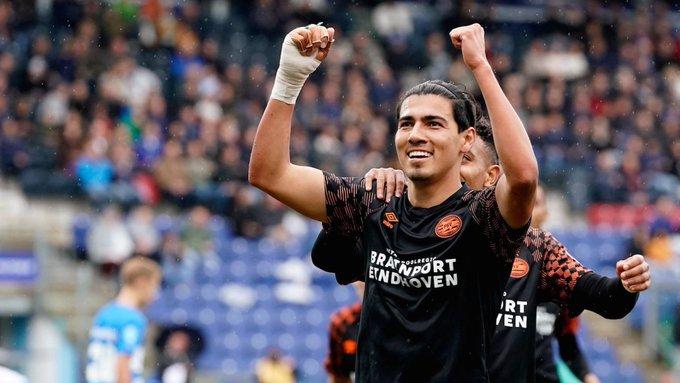 Erick Gutiérrez anotó gol en goleada del PSV. Foto: Twitter