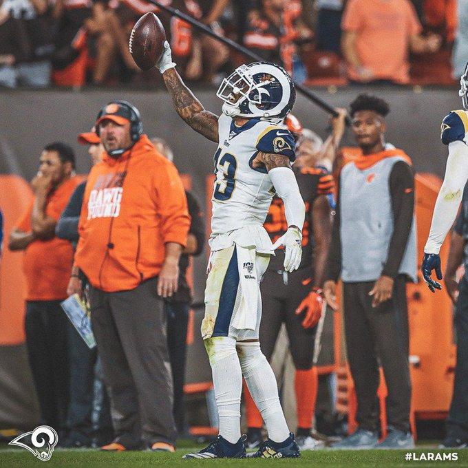 Rams le pegó a Browns. Foto: Twitter