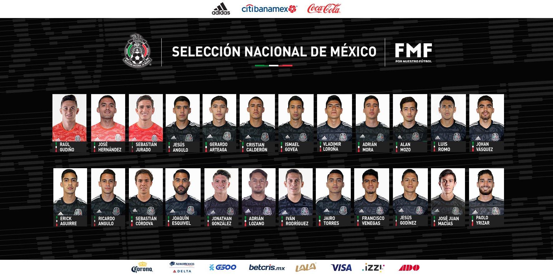 Definen lista de la selección mexicana. Foto: Twitter