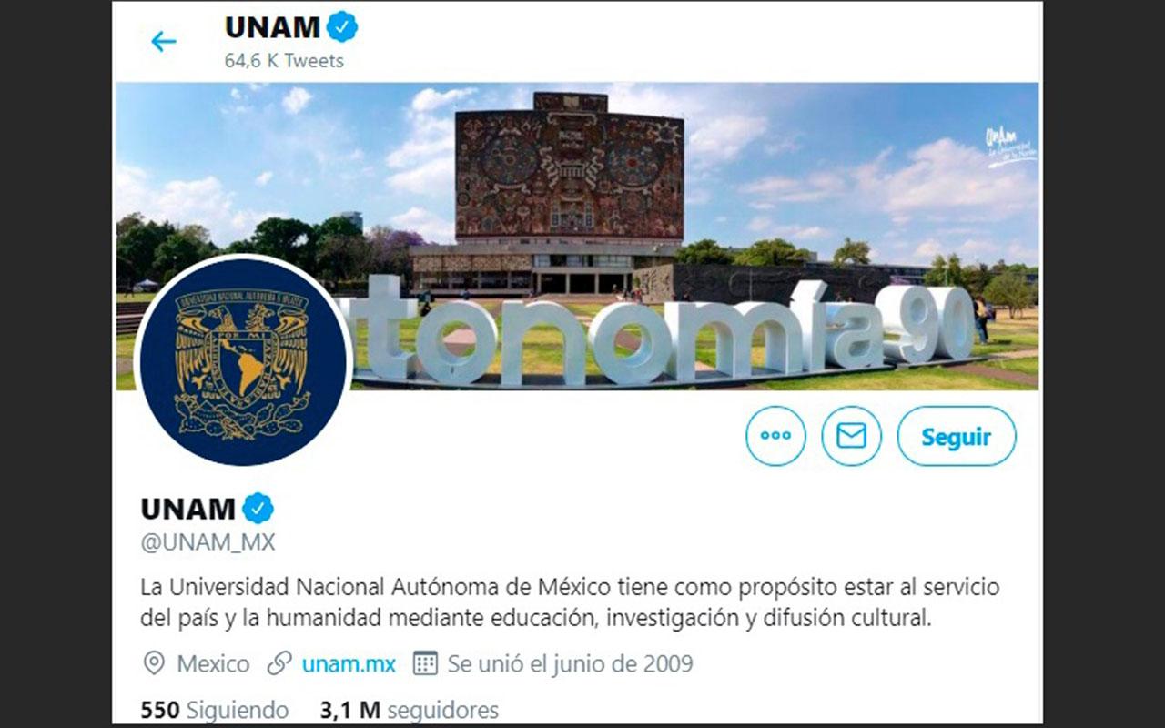 UNAM, Twitter, University Ranking 2019, red social del pájaro azul,