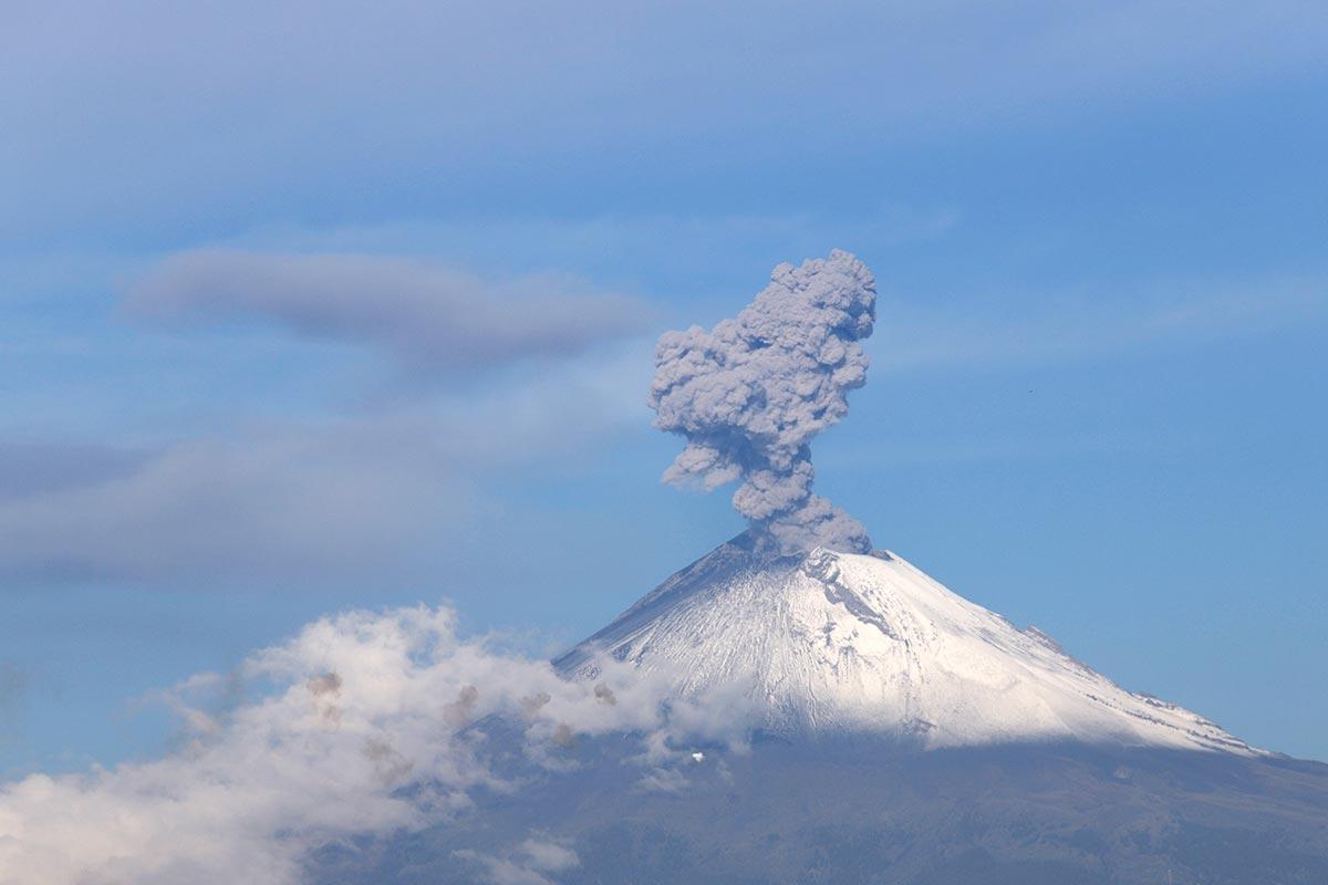 Volcán Popocatépetl, protección civil