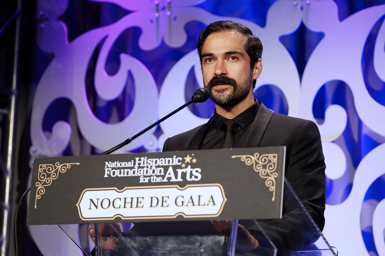"WASHINGTON, DC - SEPTEMBER 18: Actor Alfonso ""Poncho"" Herrera speaks after being honored at the National Hispanic Foundation for the Arts' 23rd Annual Noche de Gala on September 18, 2019 in Washington, DC. (Photo by Paul Morigi/Getty Images for National Hispanic Foundation for the Arts' Noche de Gala)"