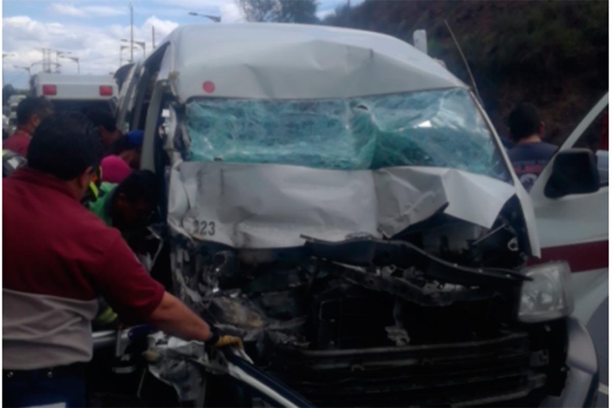 México-Pachuca, accidente, transporte público
