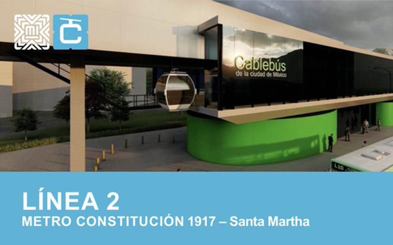 Cablebús, Línea 2, CDMX, Metro Constitución de 1917, Santa Martha, Claudia Sheinbaum,