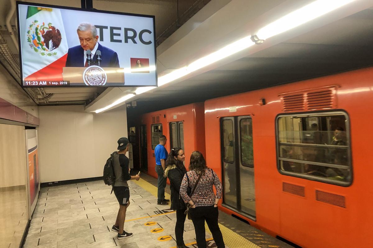 Primer Informe de Gobierno, AMLO, Metro, López Obrador, Mensaje,
