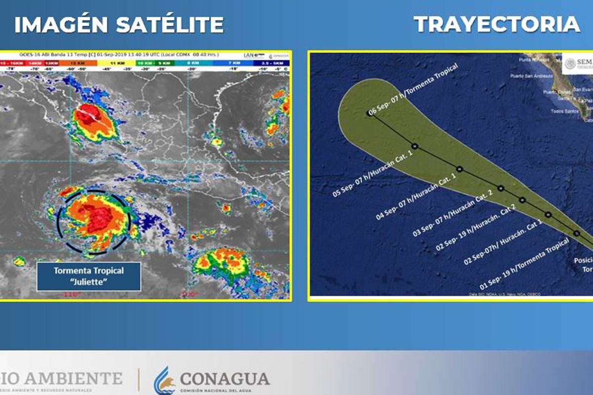 tormenta tropical, Juliette, huracán, Pacífico, lluvias,