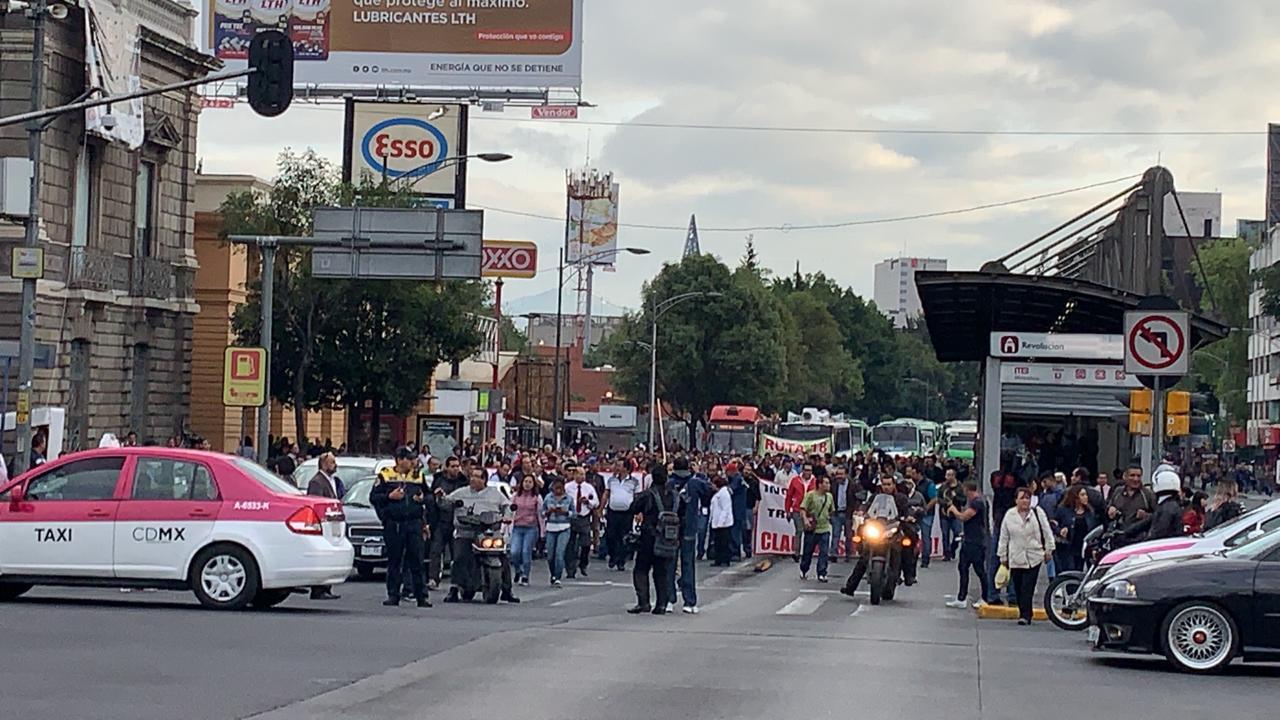 transportistas, CDMX, manifestación