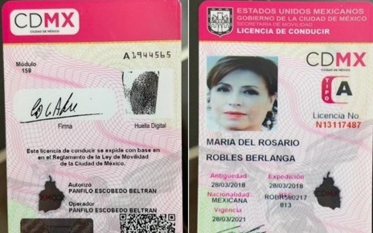 Rosario Robles, Estafa Maestra, prisión, licencia de manejo,