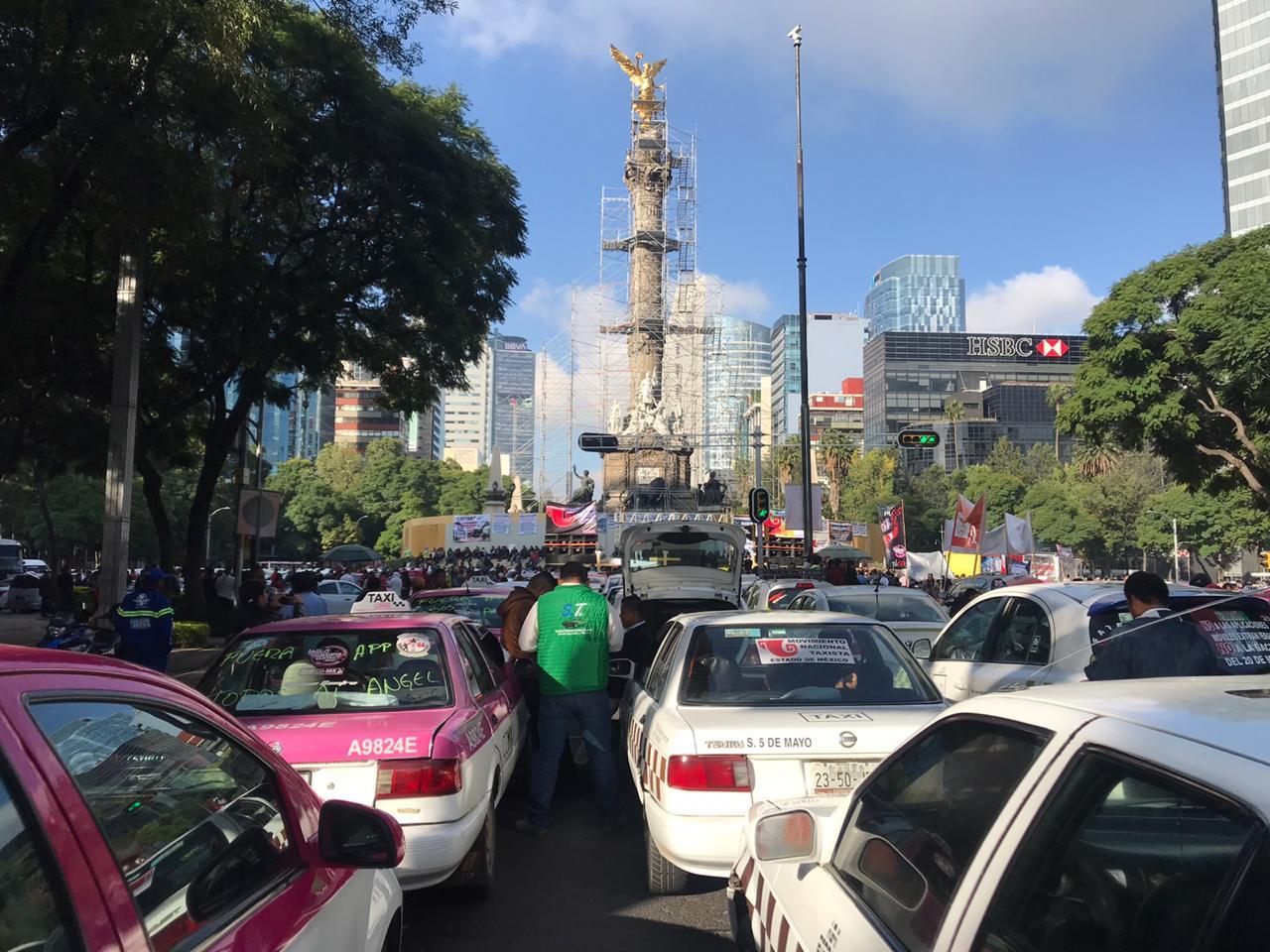 Taxistas, CDMX, manifestación, bloqueos