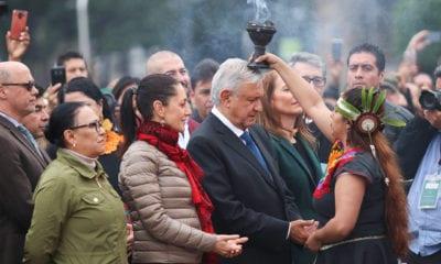 Catrinas, altar, zócalo, López Obrador, Día de Muertos,