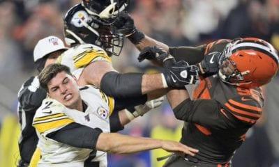 Browns y Steelers protagonizaron pelea. Foto: Twitter