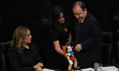 Alfonso Durazo, Senado, secretario de Seguridad y Protección Ciudadana, Pinocho, seguridad, comparecencia,