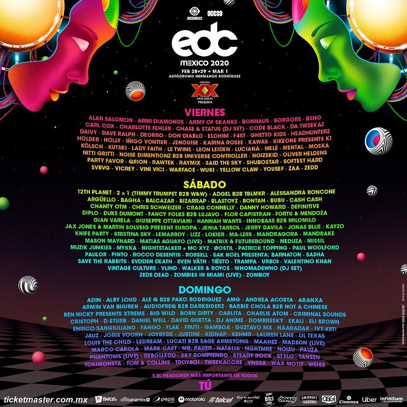 Line Up EDC 2020