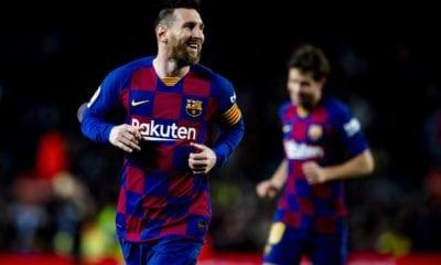 Messi consigue tres goles en victoria de Barcelona. foto: Twitter