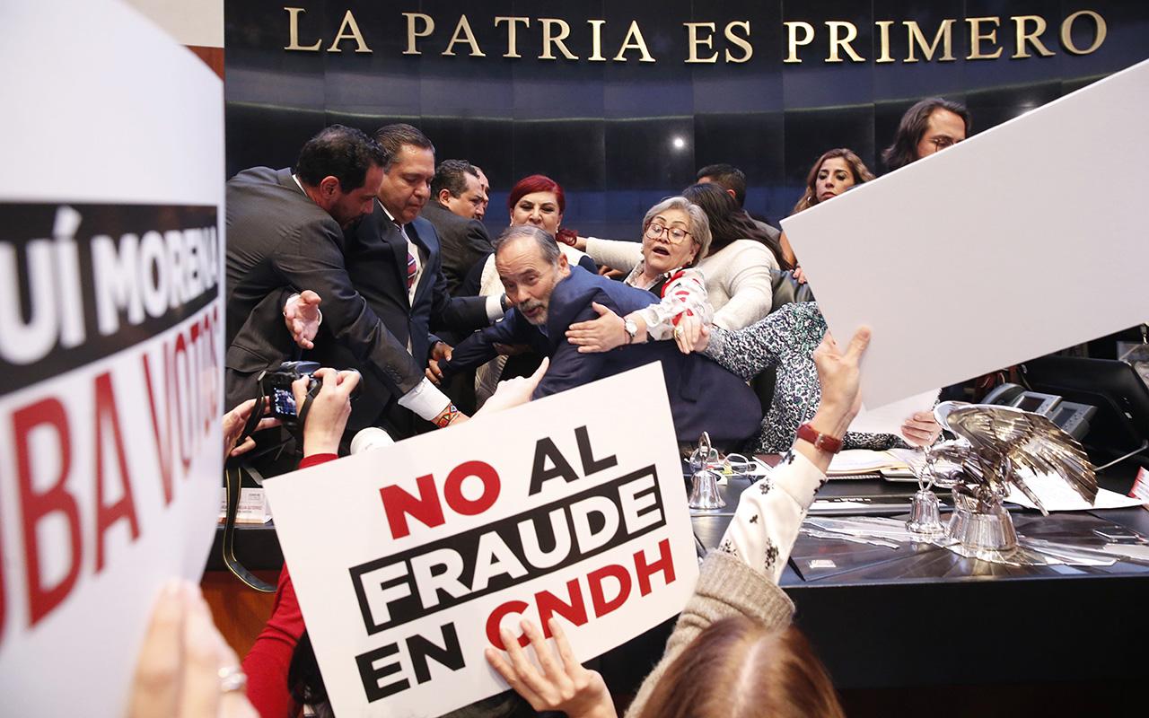 Rosario Piedra, CNDH, Amparos, elección, votos, fraude,