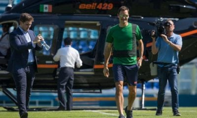 Roger Federer llegó a México. Foto: Twitter