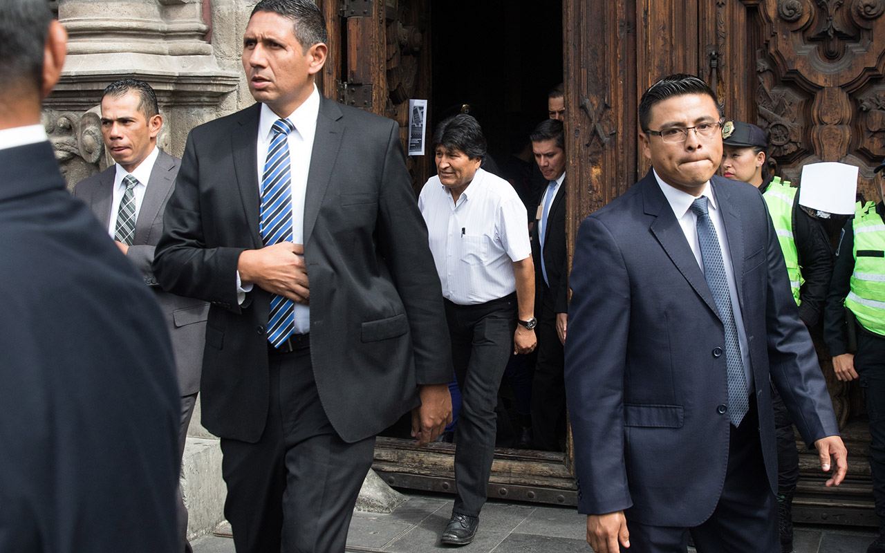 Evo Morales, Bolivia, Seguridad, Sedena, Estado Mayor,