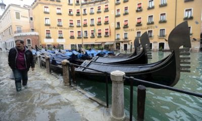 Las zonas turísticas de Venecia han sido severamente afectadas. Foto: EFE