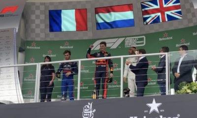 Verstappen logró el podio. Foto: twitter