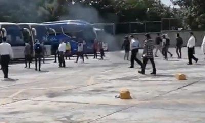 normalistas, Chiapas, Escuela Normal Rural Mactumactzá, autobuses,