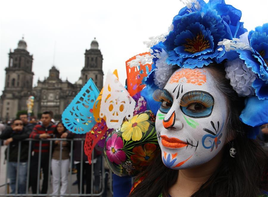 Celebración del Día de Muertos en el Zócalo/Foto: EFE