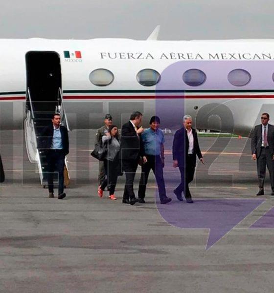 Evo Morales fue recibido por Marcelo Ebrard. Foto: Israel Lorenzana   Siete24.mx