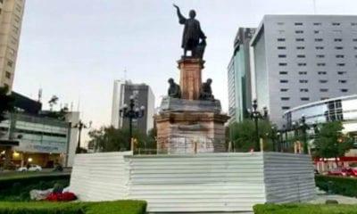 Protegen monumentos en la CDMX ante marcha