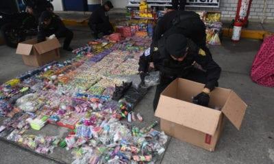 Decomisan pirotecnia ilegal en La Merced