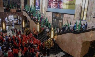 Protestas expo Zapata en Bellas Artes