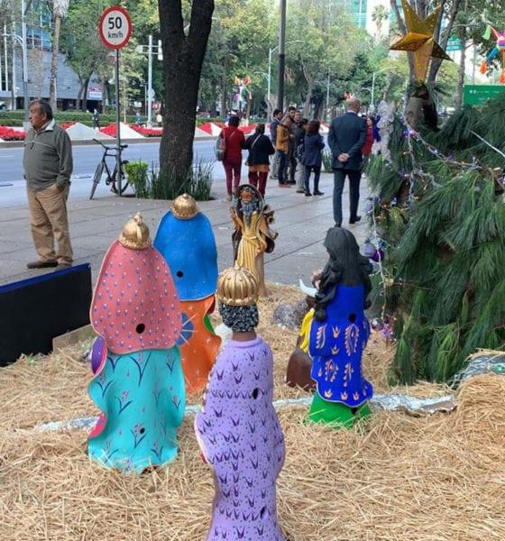 Llegan nacimientos al Paseo de la Reforma