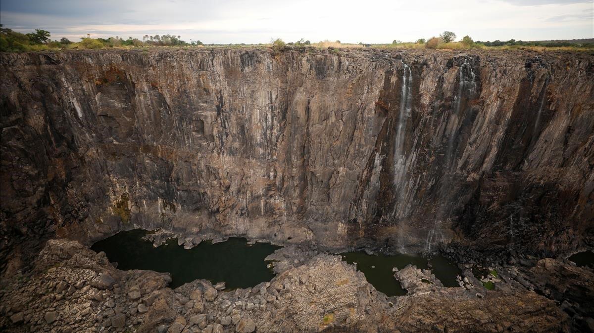 sequía, cataratas, victoria, África,