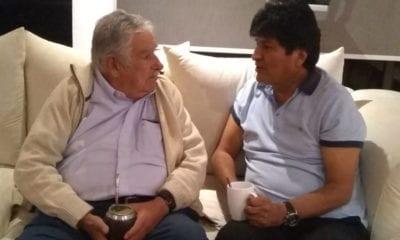 Mujica visita a Evo