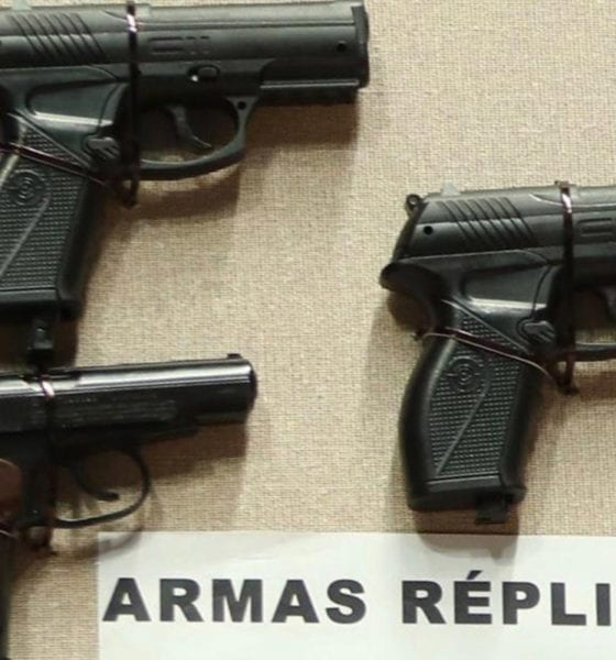Adolescentes roban con armas de 'juguete'