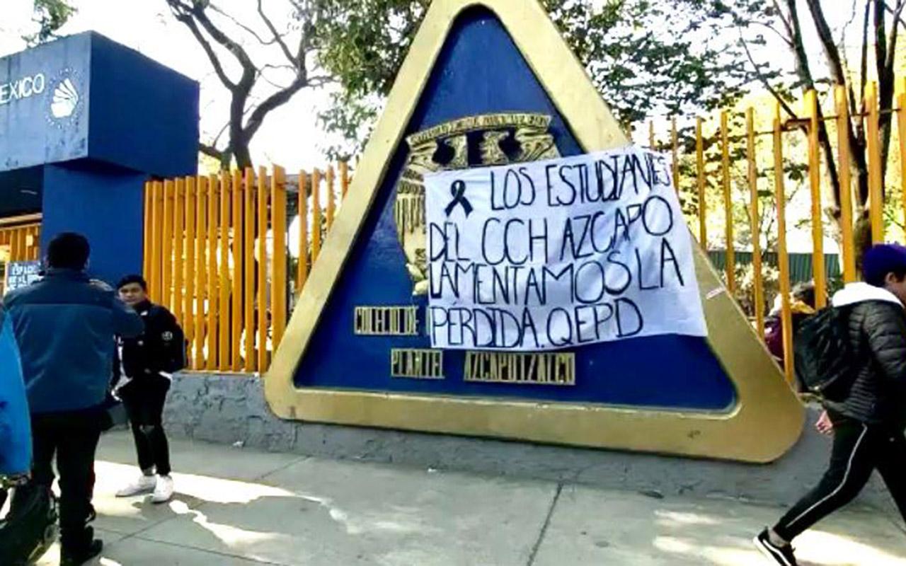 Declaran jornada de luto en CCH Azcapotzalco