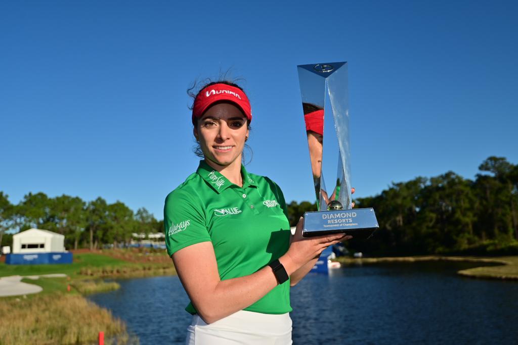Gaby López obtuvo el título de la LPGA. Foto: Twitter