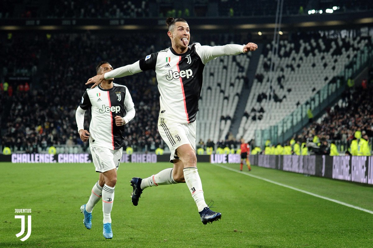 Doblete de Cristiano Ronaldo en victoria de la Juventus. Foto: Twitter