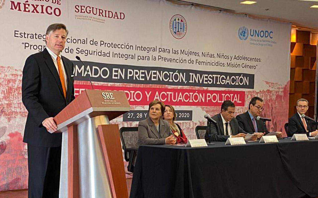 Seguridad es prioridad para México y EU: Landau