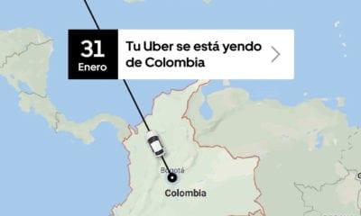 Uber dejará de operar en Colombia a partir del 1 de febrero